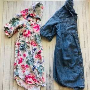 Two Girl Shirt Dresses | Size 5T